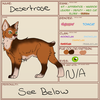 Desertrose | The Warriors Guild | Character Sheet by AlchemistKitsune