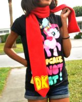 DK Tie-Scarf: IT IS ON LIKE DONKEY KONG by Lexiipantz