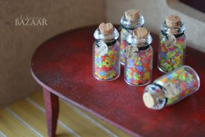 1:12 Glass Jar of Jelly Beans (With NEW tags!) by TheMiniatureBazaar