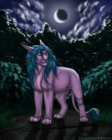 Night forest by Silvery69Golderen