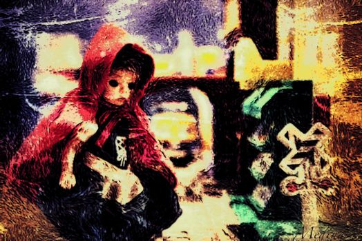 Little Red Riding Hood at Train Station by RogerMedina