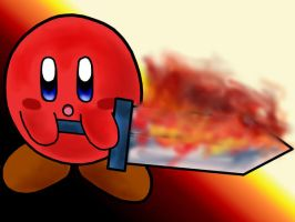 Fire Sword Kirby by AzureShinobi