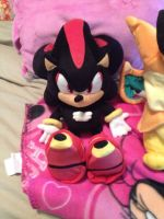 Shadow the Hedgehog Plush by OceanMelodyUnicorn