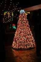 Christmas Tree of Lights 2 by GreenEyezz-stock