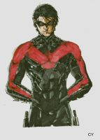 Nightwing Copic Final by FlatsNColors