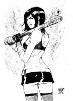 Cassie Hack sketch 2 by kevinmellon