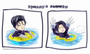 Edward Summer Swimming by amoykid