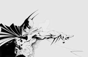 Old Batman sketch cleaned up by TimTownsend