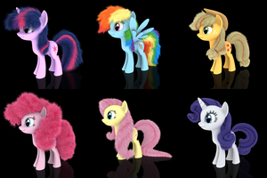 MLP Fluffy - The Fluffy Six by VeryOldBrony