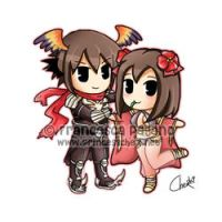040709 RO Romina Chibi Couple by ChexyTime