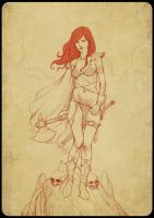 Red Sonja Sketch by zaidoigres
