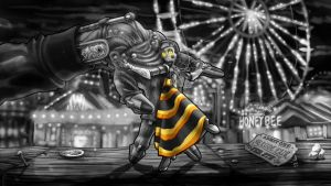 Honeybee (Black and White) by Wonderwig