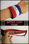 Red/Wht/Blue Zipper Cuff with Secret Stash Pocket by Sir-Herp