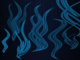 Digital Flames Brushes by muish