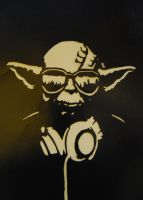 Yoda Stencil by remydarling