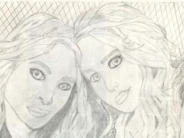 Mary-Kate and Ashley Olsen by Immadicus