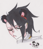 Oh ..I drew some shit PANDA by DarkBlue-Icing