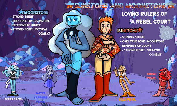 Sunstone and Moonstone and thier Pearls by GLiTCH-R