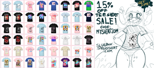 15% OFF TEE SHIRT SALE AWWW YEAH by Slugbox