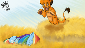 Simba Pouncing Dashie by max301