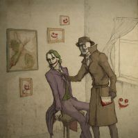Rorschach vs Joker by chelovekman