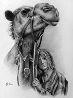 Mia Wasikowska and camel by YuskivRoman