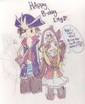 Happy B-day Cocotte !! Pirate!Edeabel by Kitedge