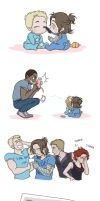 Steve and Bucky Babies: Eye Shadow by SilasSamle