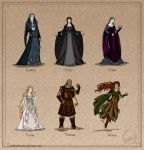 The Silmarillion: The Lesser Valar by wolfanita