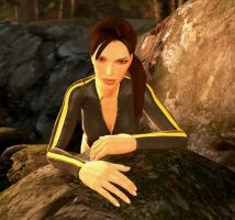 Lara Croft in Wetsuit - reference shot 01 by deadbolt107