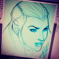 WIP Tauriel (digital) by emmshin