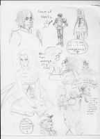 Alice in Wonderland Sketches 4 by PieMakesMeHappy123
