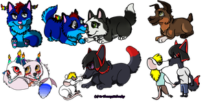 Chibis! by Themystichusky