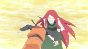 Kushina hits Naruto for being stubborn by TheBoar