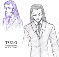 FFVII: Tseng Sketches by cheloya