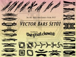 Brushes - Vector Bars Set01 by pixelchemist