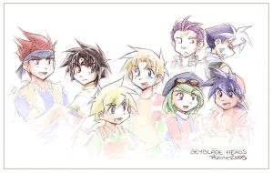 Beyblade Heads by Achiru-et-al