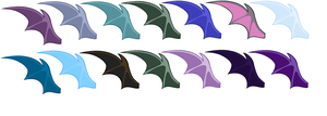 Bat Wings Set 1 by MAPSpony