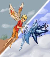 Fire and Ice (background redo) by kmp0511