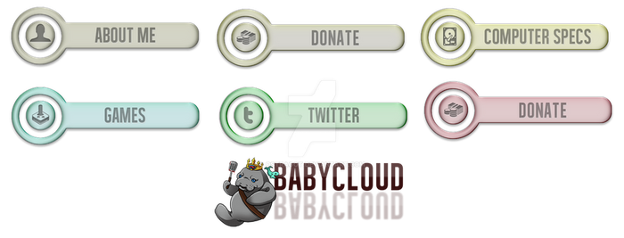 BabyCloud Twitch Button Pack Preview by Ostragot