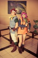 Chrono Trigger:Crono and Lucca by SoraSkater