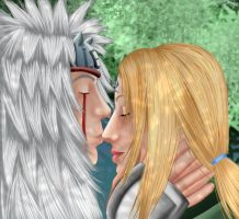Tsunade_Jiraiya : Kiss on the nose by MimiSempai