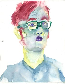 Watercolor Self Portrait by Vic-Perfecto
