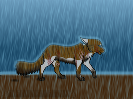 Walking through Mud and Rain by BleachTheNight