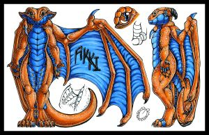 .Akki Reference Sheet. by Asyd-Rayn