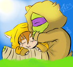 APRILTELLO DOODLE: SLEEPING CHIBI BABIES by Mikibaby94