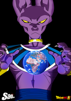 Beerus the Power of the God of Destruction by SaoDVD