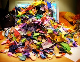 1,000 Cranes by DoubtingSalmon