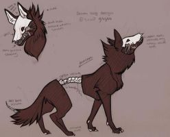 Demon Dog Design by lemonfruitpie