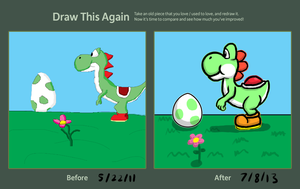 Draw This Again: Yoshi by KerryKoopa26